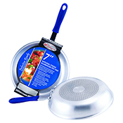 """Winco AFPI-7H 7"""" Aluminum Induction Ready Fry Pan with Silicone Sleeve - Winco"""