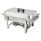 Winco C-3080B Full Size Chafer with Hinged Lid and Chafing Fuel Heat - Winco