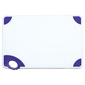 "Winco CBN-1218PP 12""x18""x0.5"" Cutting Board with Purple Hook - Winco"