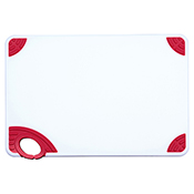"""Winco CBN-1218RD 12""""x18""""x0.5"""" Cutting Board with Red Hook - Winco"""