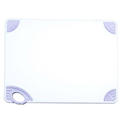 """Winco CBN-1218WT 12""""x18""""x0.5"""" Cutting Board with White Hook - Winco"""