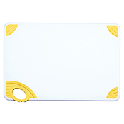 "Winco CBN-1218YL 12""x18""x0.5"" Cutting Board with Yellow Hook - Winco"