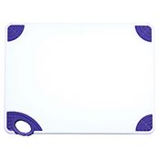 "Winco CBN-1520PP 15""x20""x0.5"" Cutting Board with Purple Hook - Winco"