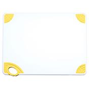 "Winco CBN-1520YL 15""x20""x0.5"" Cutting Board with Yellow Hook - Winco"