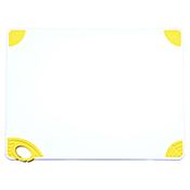 "Winco CBN-1824YL 18""x24""x0.5"" Cutting Board with Yellow Hook - Winco"