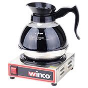 Winco ECW-1 100W 1-Burner Electric Coffee Warmer - Winco