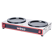 Winco ECW-2 200W 2-Burner Electric Coffee Warmer - Winco