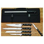 Winco KFP-KITA 7-Piece Cutlery Set with Shears and Knife Bag - Winco