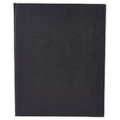 "Winco LMD-811BK Black Double Views Menu Cover For 8.5x11"" Inserts - Winco"