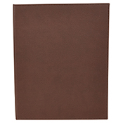 """Winco LMD-811BN Brown Double Views Menu Cover For 8.5x11"""" Inserts - Winco"""