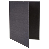 """Winco LMD-814GY Grey Double Views Menu Cover For 8.5x14"""" Inserts - Winco"""