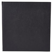 "Winco LMS-814BK Black Single View Menu Cover For 8.5x14"" Inserts - Winco"