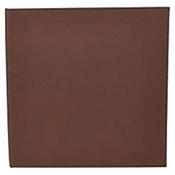 "Winco LMS-814BN Brown Single View Menu Cover For 8.5x14"" Inserts - Winco"