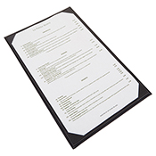 """Winco LMS-814GY Grey Single View Menu Cover For 8.5x14"""" Inserts - Winco"""