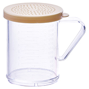 Winco PDG-10B 10 Oz Dredge with Beige Snap-On Lid - Winco