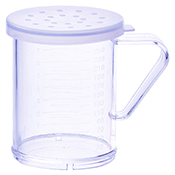 Winco PDG-10CL 10 Oz Dredge with Clear Snap-On Lid Large Hole - Winco