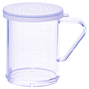 Winco PDG-10CM 10 Oz Dredge with Clear Snap-On Lid Medium Hole - Winco