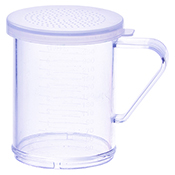 Winco PDG-10CS 10 Oz Dredge with Clear Snap-On Lid Small Hole - Winco