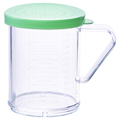 Winco PDG-10G 10 Oz Dredge with Green Snap-On Lid - Winco