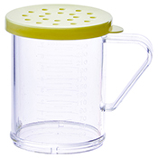 Winco PDG-10Y 10 Oz Dredge with Yellow Snap-On Lid - Winco