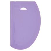 """Winco PDS-7P 7-1/2"""" x 4-3/4"""" Allergen Free Purple Plastic Bowl Dough Scraper - Winco"""