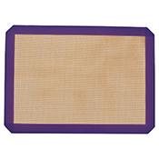 "Winco SBS-16PP 11-5/8"" X 16-1/2"" Purple Silicone Baking Mat - Winco"