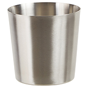 """Winco SFC-35 3.25"""" Diameter Solid Fry Cup with Satin Finish - Winco"""