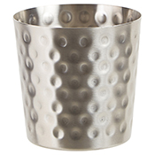 """Winco SFC-35H 3.25"""" Diameter Hammered Fry Cup - Winco"""