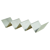 Winco TCHS-34 3-4 Slots Stainless Steel Taco Holder - Winco