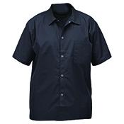 Winco UNF-1KL Black Chef Shirt Size L - Winco