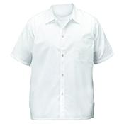 Winco UNF-1WL White Chef Shirt Size L - Winco