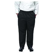 Winco UNF-2KL Black Chef Pants Size L - Winco