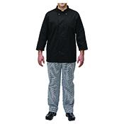 Winco UNF-5KL Black Chef Jacket Size L - Winco