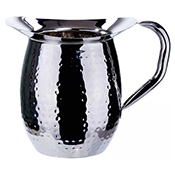 Winco WPB-2CH 2-Quart Hammered Bell Pitcher with Ice Catcher - Winco