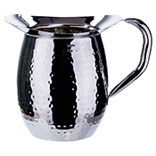 Winco WPB-2H 2-Quart Hammered Bell Pitcher - Winco