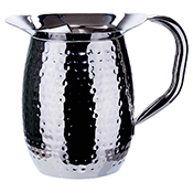 Winco WPB-3H 3-Quart Hammered Bell Pitcher - Winco