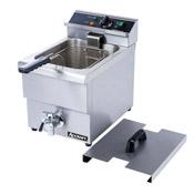 Adcraft Single Tank Countertop Fryer w/Drain