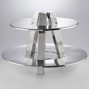 American Metalcraft DTS2013 Two Tiered Stand - Display Risers