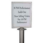 American Metalcraft RSSIGNLSPS Retractable Barrier Sign - American Metalcraft