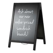 American Metalcraft SBDBL55 Basic Sandwich Board - Presentation Stands and Carts