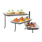 American Metalcraft TTMEL3 Three-Tier Foldable Stand - Display Risers