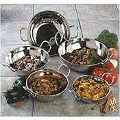 Carlisle 16 oz Stainless Steel Balti Dishes - Servingware