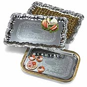 "Carlisle Rectangular 21"" x 15"" Tray with Ornate Border - Servingware"