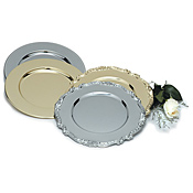 "Carlisle 12.19"" Chrome Charger Plates - Servingware"