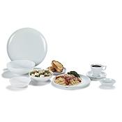 "Carlisle Epicure 12"" White Epicure Buffet/ Pizza Plates - Dinner Plates"