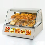 Equipex HOT 200 30 in. Curved Glass Countertop Warming Display Case - Equipex