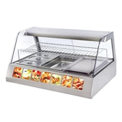 Equipex HOT 200 45 in. Curved Glass Countertop Warming Display Case - Equipex