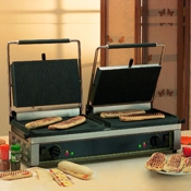 Equipex DIABLO Split-Top 33 In Sodir Electric Double Panini Grill - Equipex