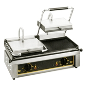 Equipex MAJESTIC Split-Top 24 in. Sodir Electric Panini Grill - Equipex