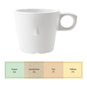 G.E.T. DC-101-Y 7.5 oz. Conic Stacking Cup - G.E.T. Melamine